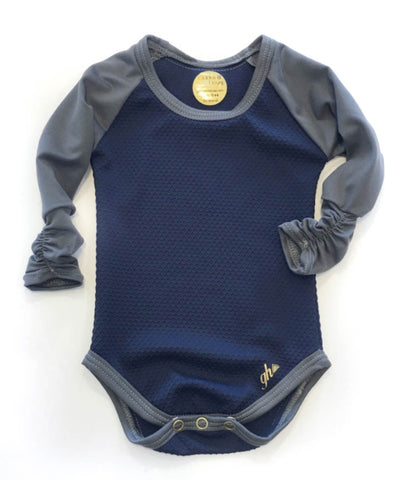 Navy and Gray Raglan RUCHED