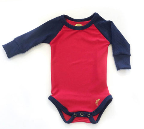 Red & Navy Raglan