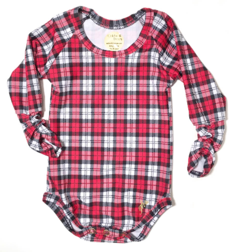 Red and White Plaid Long Sleeve