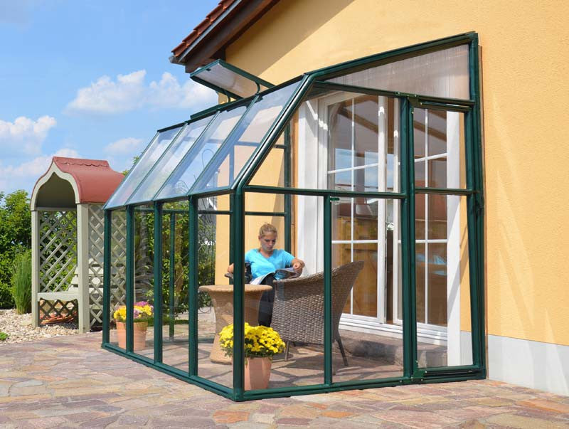 Great ... Rion Sun Lounge 2   Patio Enclosure Polycarbonate Greenhouse, Green  Lean To Greenhouse Rion ...