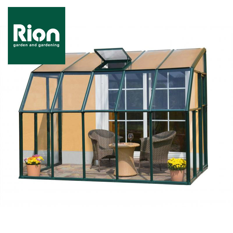 rion sun lounge 2 patio enclosure greenhouse green lean to greenhouse rion