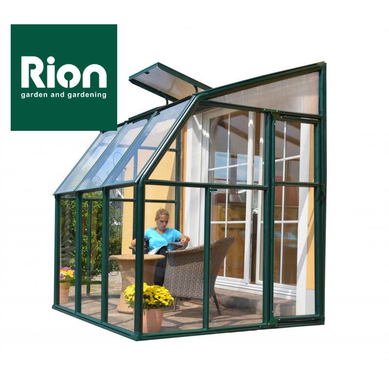 Exceptional Rion Sun Lounge 2   Patio Enclosure Polycarbonate Greenhouse, Green Lean To  Greenhouse Rion ...