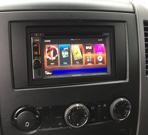 VW Crafter Kenwood Double din installation