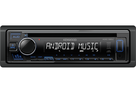 KENWOOD KDC 130UB CD-Receiver with Front USB & AUX Input - SAFE'N'SOUND