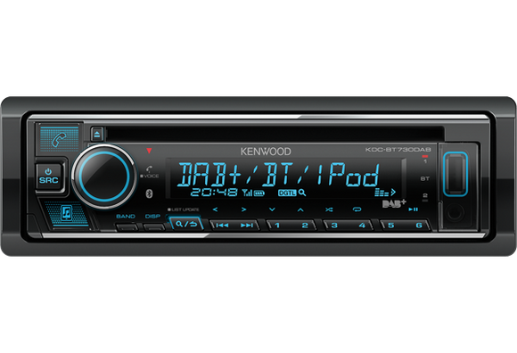 KENWOOD KDC BT730DAB CD/USB-Receiver with Built-in Bluetooth & DAB+ - SAFE'N'SOUND