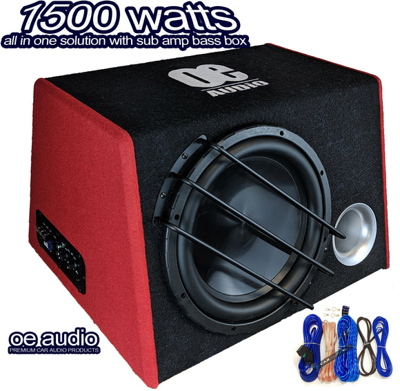 OE Audio OE-12BXi High performance subwoofer box 1500 Watt - SAFE'N'SOUND