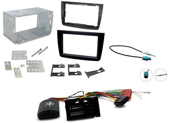 CTKAR07 FULL DOUBLE DIN FITTING KIT FOR ALFA ROMEO  MITO - 2014 - 2018 - SAFE'N'SOUND