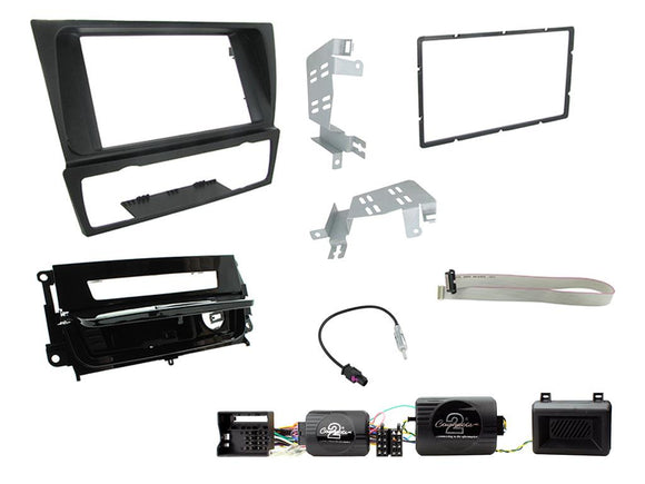 CTKBM13 DOUBLE DIN FULL FITTING KIT FOR BMW  3 SERIES 2005 - 2012  E90/E91/E92/93  (WITH AUTOMATIC AIR CONDITIONING) - SAFE'N'SOUND