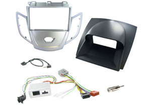 CTKFD01 COMPLETE SILVER DOUBLE DIN FITTING KIT FORD FIESTA - 2008 - 2010 - SAFE'N'SOUND