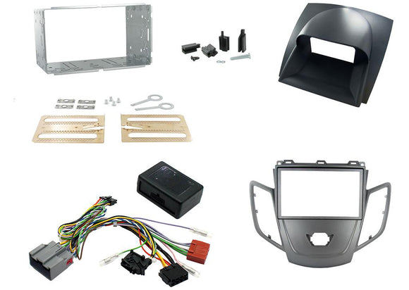 CTKFD04 COMPLETE SILVER DOUBLE DIN FITTING KIT FORD FIESTA - 2008> - SAFE'N'SOUND