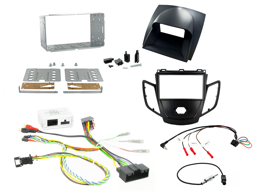 CTKFD16 COMPLETE SILVER DOUBLE DIN FITTING KIT FORD FIESTA - 2012>