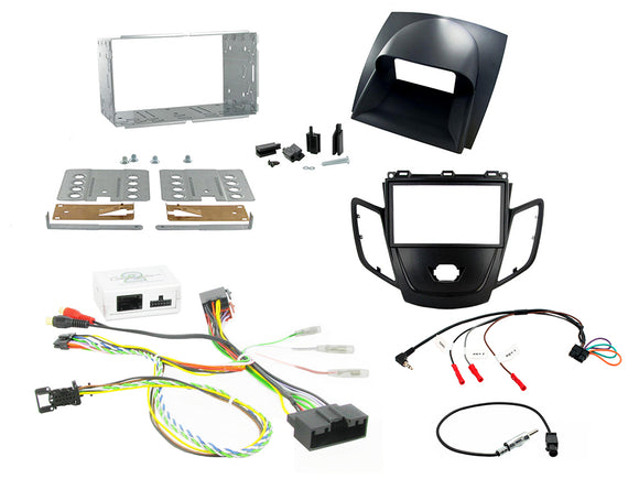 CTKFD16 COMPLETE SILVER DOUBLE DIN FITTING KIT FORD FIESTA - 2012> - SAFE'N'SOUND