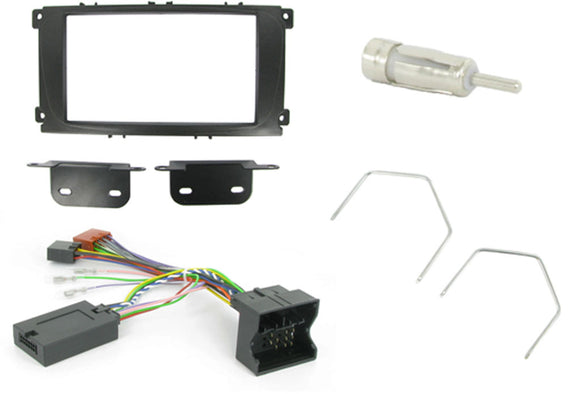 CTKFD24 COMPLETE BLACK DOUBLE DIN FITTING KIT FORD FOCUS MKII - 2007 - 2011 MONDEO - 2007 - 2011 S-MAX - 2007 - 2011 - SAFE'N'SOUND