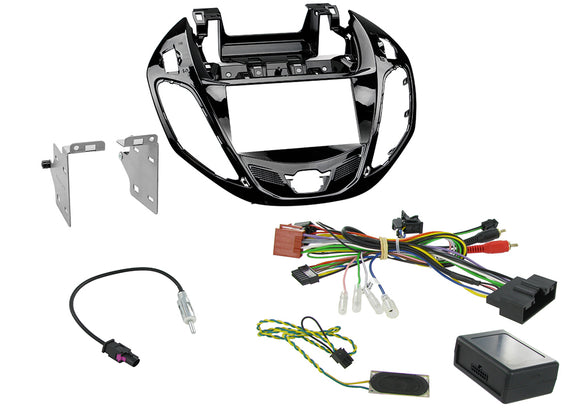 CTKFD38 COMPLETE PIANO BLACK DOUBLE DIN FITTING KIT FORD REQUIRES HAZARD LIGHT SWITCH BY FORD PART NUMBER 1519127  B-MAX 2012> - SAFE'N'SOUND
