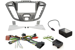CTKFD41 COMPLETE PHOENIX SILVER DOUBLE DIN FITTING KIT FORD TRANSIT CUSTOM 2013> - SAFE'N'SOUND