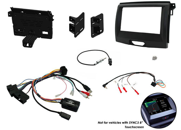 CTKFD65 DOUBLE DIN FITTING KIT FOR FORD  RANGER - 2015> EVEREST - 2015> - SAFE'N'SOUND