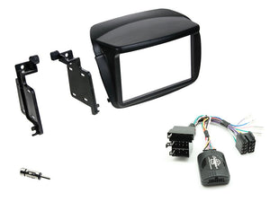 CTKFT11 FULL BLACK DOUBLE DIN FITTING KIT FOR FIAT / VAUXHALL  DOBLO - 2010 - 2015 COMBO - 2012 - 2015 - SAFE'N'SOUND