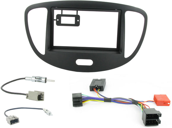 CTKHY01 FULL DOUBLE DIN FITTING KIT FOR  HYUNDAI i10 - 2008> - SAFE'N'SOUND