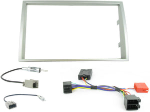 CTKHY02 FULL SILVER DOUBLE DIN FITTING KIT FOR  HYUNDAI i20 - 2008> - SAFE'N'SOUND