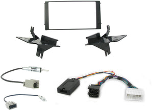 CTKHY03 FULL SILVER DOUBLE DIN FITTING KIT FOR  HYUNDAI SANTA FE - 2006 - 2010 - SAFE'N'SOUND