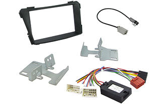 CTKHY05 FULL SILVER DOUBLE DIN FITTING KIT FOR  HYUNDAI i40 - 2011> - SAFE'N'SOUND