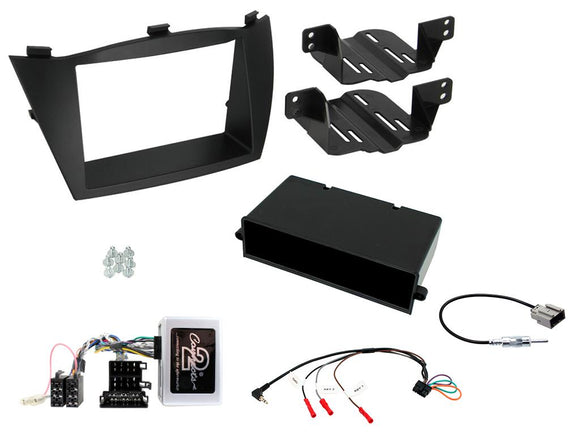 CTKHY13 FULL DOUBLE DIN FITTING KIT FOR  HYUNDAI  ix35 - 2010 - 2013 AMP VEHICLES MINI ISO - SAFE'N'SOUND