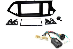 CTKKI25 DOUBLE DIN COMPLETE FITTING KIT  FOR  KIA  PICANTO - 2011 > - SAFE'N'SOUND