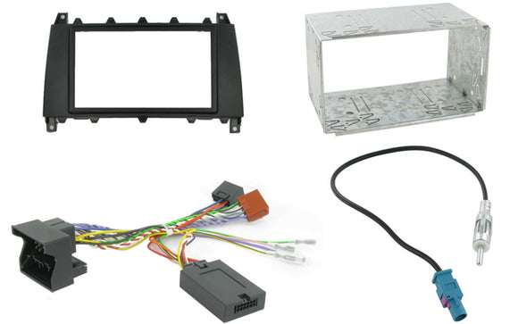 CTKMB01 COMPLETE DOUBLE DIN FITTING KIT MERCEDES C CLASS 2004 - 2006 W203  Note:W203 model. - SAFE'N'SOUND