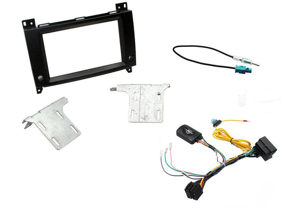 CTKMB17 COMPLETE DOUBLE DIN FITTING KIT MERCEDES  VITO  2015> W447  AUDIO 15  QUADLOCK (FAKRA) - SAFE'N'SOUND