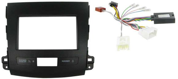 CTKMT01 DOUBLE DIN FITTING KIT FOR MITSUBISHI  OUTLANDER - 2007> AMPLIFIED VEHICLES - SAFE'N'SOUND