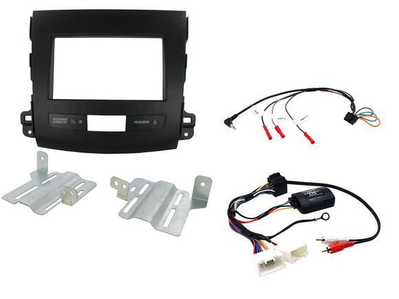 CTKMT03 DOUBLE DIN FITTING KIT FOR MITSUBISHI  OUTLANDER - 2007 - 2010   NON AMP - SAFE'N'SOUND