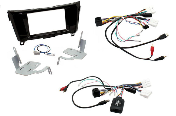 CTKNS04 COMPLETE DOUBLE DIN FITTING KIT NISSAN  QASHQAI 2007 - 2013 - SAFE'N'SOUND