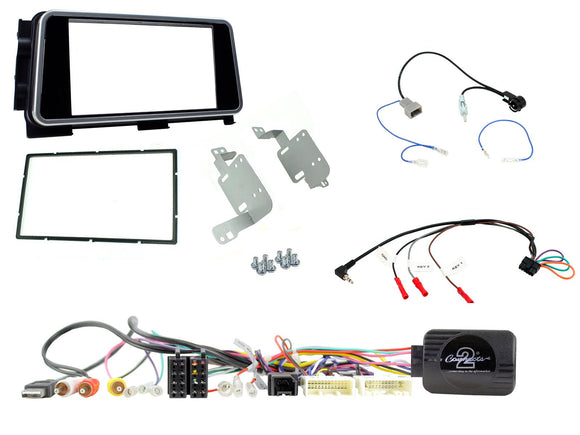 CTKNS12 COMPLETE DOUBLE DIN FITTING KIT NISSAN  MICRA - 2017> KICKS - 2017> - SAFE'N'SOUND