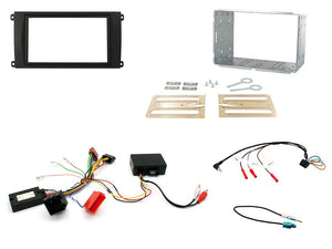 CTKPO02 COMPLETE DOUBLE DIN FITTING KIT PORSCHE  CAYENNE - 2002 - 2007 MINI ISO  PCM2.1 NON TOUCH SCREEN NAVIGATION - SAFE'N'SOUND