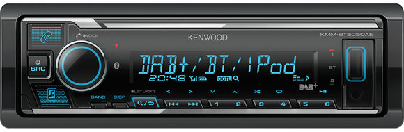 KENWOOD KMM BT504DAB Digital Media Receiver with Built-in Bluetooth & DAB+ Radio - SAFE'N'SOUND