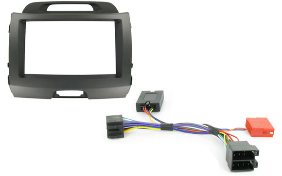 CTKKI02 COMPLETE DARK GREY DOUBLE DIN FITTING KIT KIA SPORTAGE 2010> - SAFE'N'SOUND