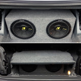"BMW 3 series E46 E93 Convertible 10"" sub Twin Ported Vented Bass Box Enclosure - SAFE'N'SOUND"