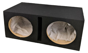 "Double Dual 12"" Custom Slot Ported box MDF enclosure for 2 x 12"" sub Enclosure - SAFE'N'SOUND"