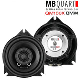 "MB Quart QM100XBMW 4"" Custom Fit Door Speakers for BMW X1 E84 2009 on - SAFE'N'SOUND"