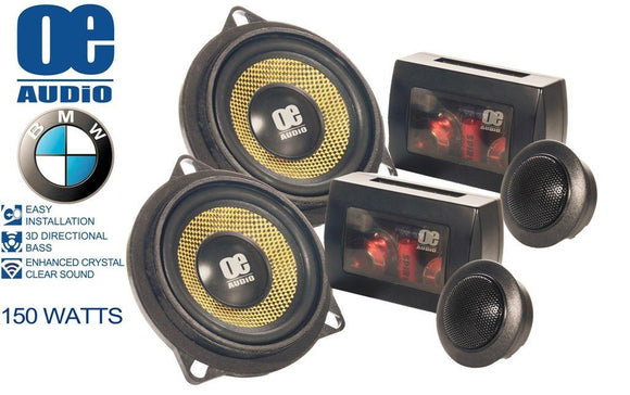 OE Audio OE-100.2 BMW Straight Fit In Car Audio Component Speakers