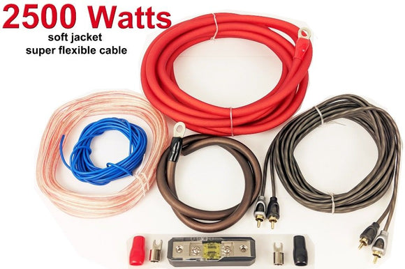 4 awg gauge Amplifier subwoofer Bass Cable Wiring Kit - SAFE'N'SOUND