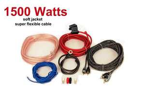 High Quality Car Audio 10 awg amp amplifier Gauge Wiring Kit-PPX- 10AWG 1500watt - SAFE'N'SOUND