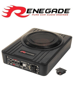 "RS800A 8 ""(20cm) Underseat Subwoofer with a built-in 100 Watt RMS amplifier. - SAFE'N'SOUND"