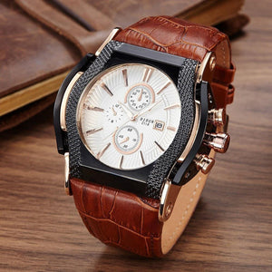 Decent Textured Leather Watch