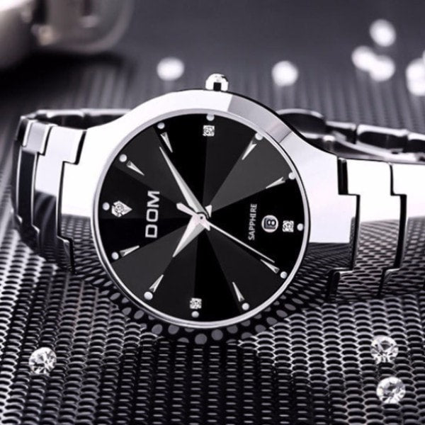 The Elegant Dom - Invincible 26mm Tungsten Carbide Watch for women