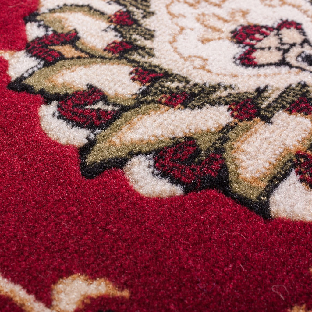 Persian Kashan Value Red Floral Persian Area Rug