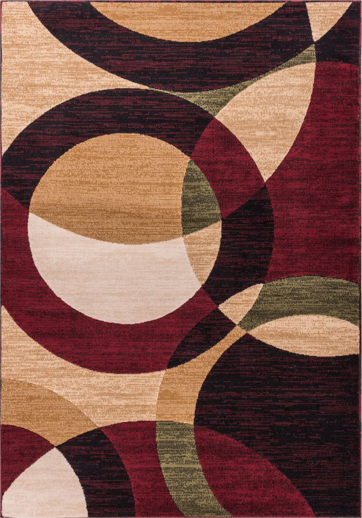 Casual Modern Shapes and Circles Multi Area Rug