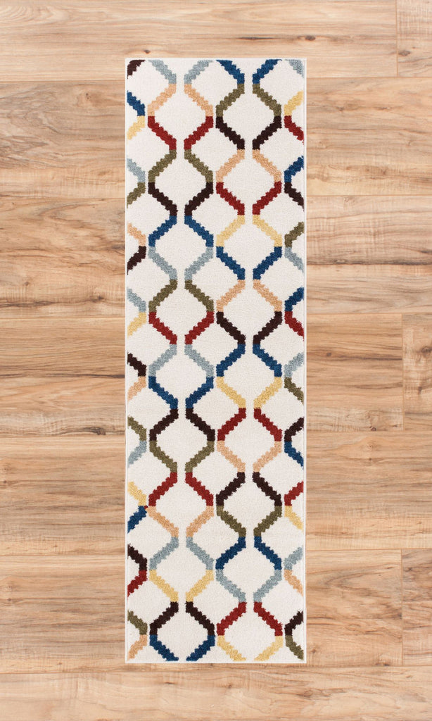Fez Bazaar Multi Lattice Geometric Modern Casual Rug