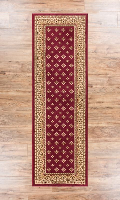 Noble Palace Red French European Formal Traditional Area Rug