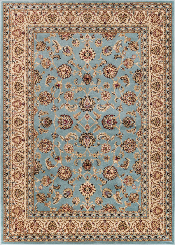 Noble Sarouk Light Blue Persian Floral Oriental Formal